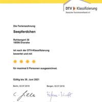 Bild DTV-Urkunde Haus Seepferdchen