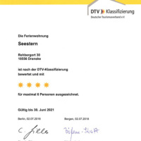 Bild DTV-Urkunde Haus Seestern